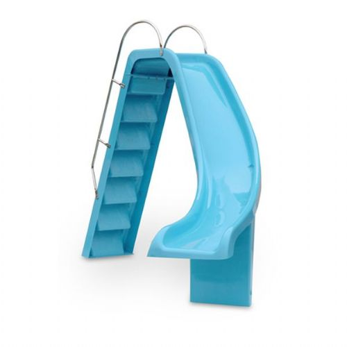 Curved Slides - Left hand curved slide with fibreglass steps & S/S handrails C/W deck anchors